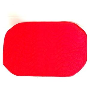 Other - 6 Red Quilted Placemats